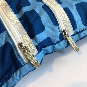 LESPORTSAC 3-Zip blue white nylon crossbody GUC